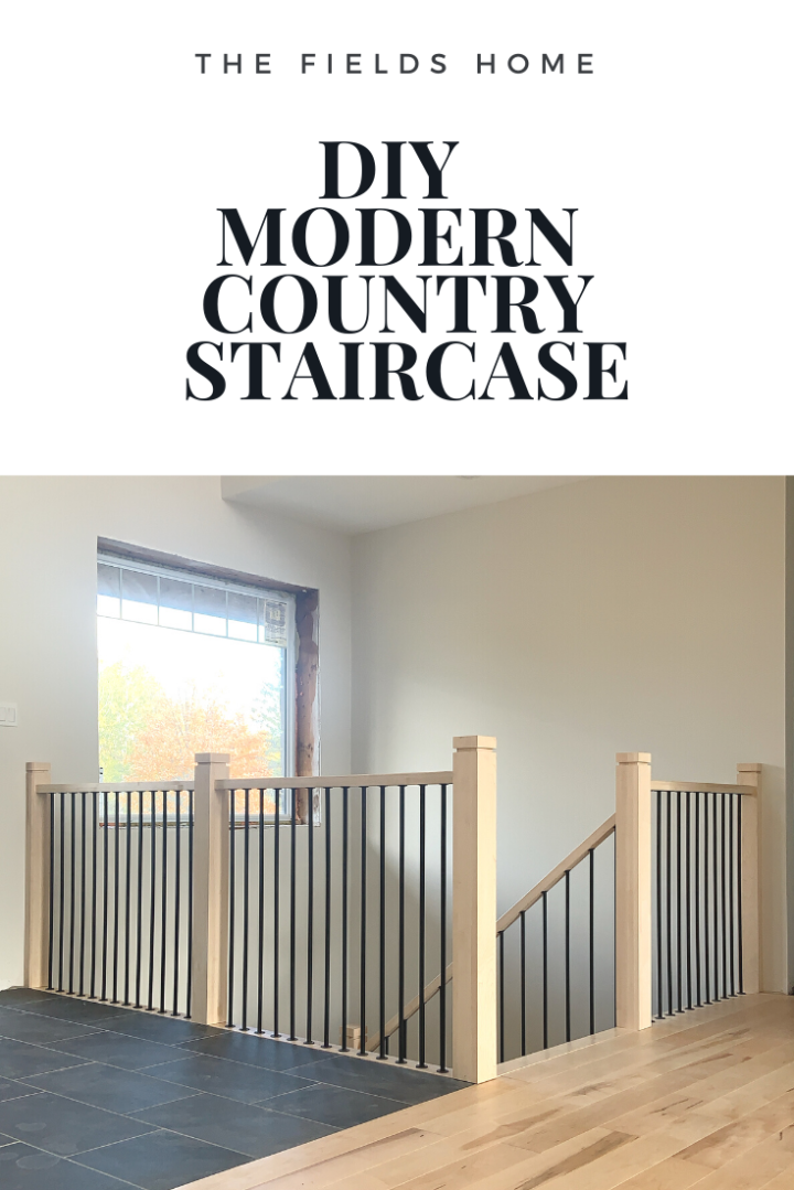 DIY Modern Country Staircase